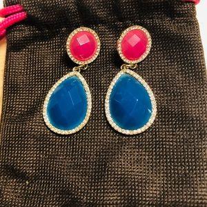 """Jewelry - New, Women's, Dangle Stone Earrings 2"""" drop"""